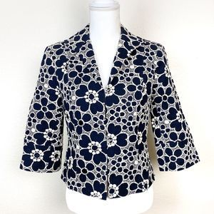 Lafayette 148 | Floral Embroidered Blazer Size 6
